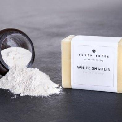 SEVEN TREES WHITE SHAOLIN Kaolin Tonerde Seife ohne Duftstoffe für empfindliche Haut