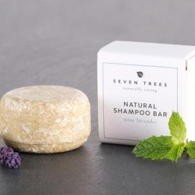 SEVEN TREES solid shampoo bar MINT LAVENDER