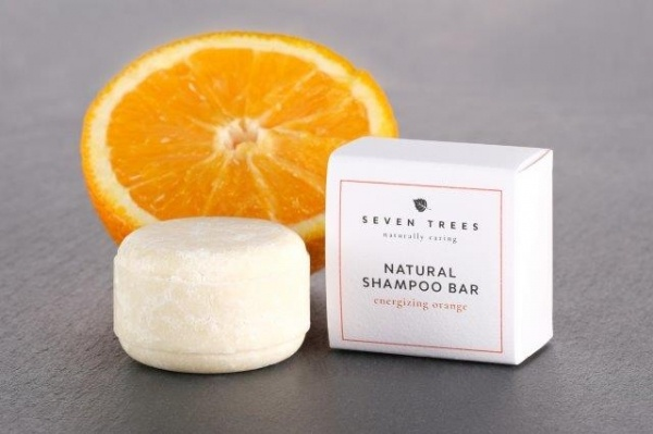 SEVEN TREES natural shampoo bar ENERGIZING ORANGE